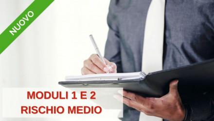 Corso E-Learning RSPP per Datori di Lavoro DLSPP per Aziende a Rischio Medio (Moduli 1 e 2)