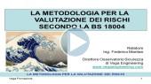 Nuova BS 18004: Seminario integrale per la valutazione dei rischi