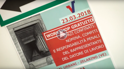 Workshop Sicurezza Lavori in Spazi Confinati - 23.03.2018