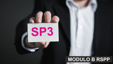 MODULO B-SP3: CORSO RSPP E ASPP - ACCORDO STATO REGIONI DEL 7/7/16 (SETTORE ATECO Q) - VALIDO ANCHE COME AGG. A/RSPP