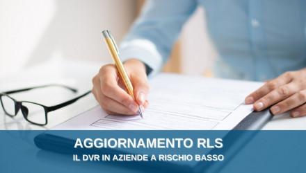CORSI AGGIORNAMENTO RLS: IL DVR E IL RUOLO DEL RLS PER ATTIVIT� A RISCHIO BASSO