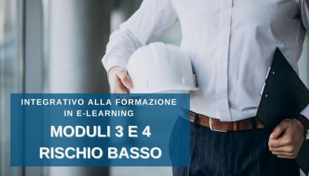 CORSO RSPP PER DATORI DI LAVORO INTEGRATIVO ALLA FORMAZIONE E-LEARNING RISCHIO BASSO � MODULI 3 E 4