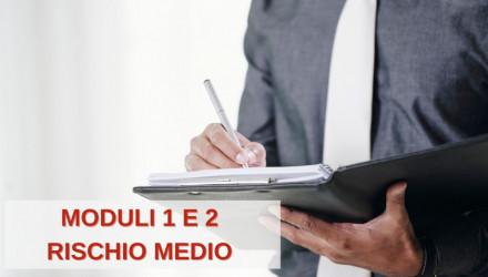 CORSO RSPP PER DATORI DI LAVORO PER AZIENDE A RISCHIO MEDIO (MODULI 1 E 2)