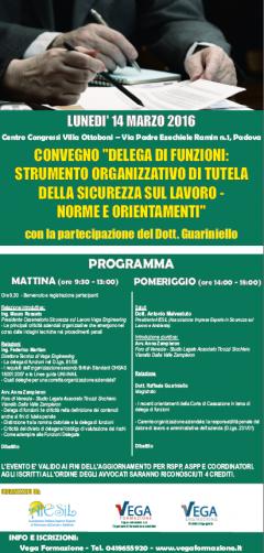 """CONVEGNO """"DELEGA DI FUNZIONI"""" CON DOTT. RAFFAELE GUARINIELLO"""