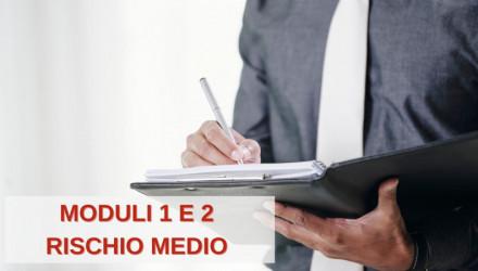 CORSO E-LEARNING RSPP PER DATORI DI LAVORO PER AZIENDE A RISCHIO MEDIO (MODULI 1 E 2)