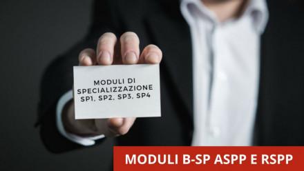 FORMAZIONE ASPP E RSPP: MODULI DI SPECIALIZZAZIONE SP IN VIDEOCONFERENZA
