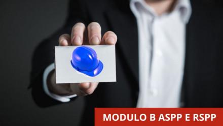 FORMAZIONE ASPP E RSPP: CORSO MODULO B COMUNE IN VIDEOCONFERENZA - 48 ORE